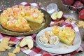Winterlicher Apfel-Rosen-Kuchen mit Spekulatius-Eis