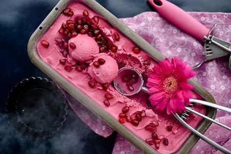 Granatapfel-Eis