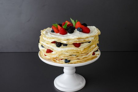 Pfannkuchen Torte fruchtig frisch