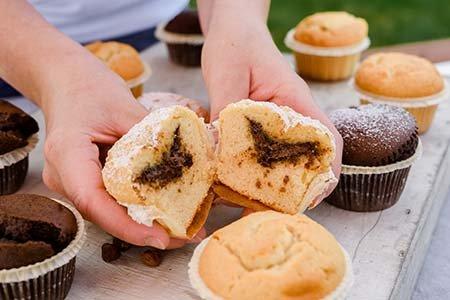 Muffin mit Nuss-Nougatcreme