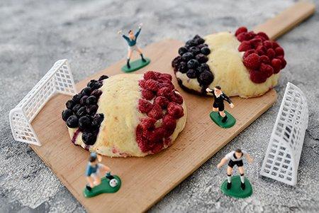 Französische Mini-Flammkuchen