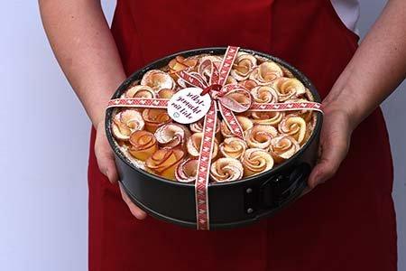 Apfel-Rosen-Torte