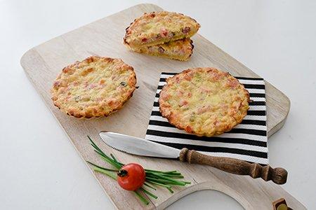 Gemüse Tartelettes mit Speck