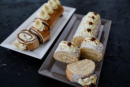 Biskuit-Rouladen