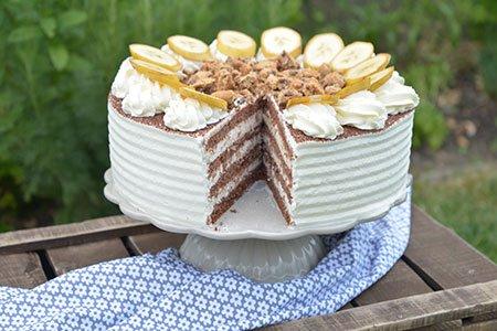 Bananensahne Torte
