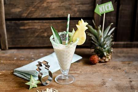 Mandelmilch-Eis-Shake
