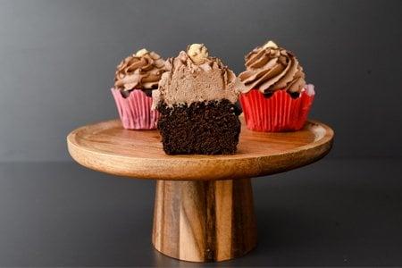 Vegane Nuss-Nugat Cup Cakes