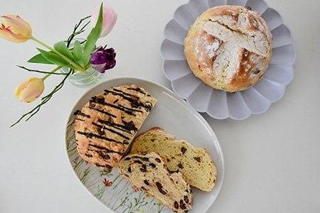 Osterbrot mit Schoko-Chunks