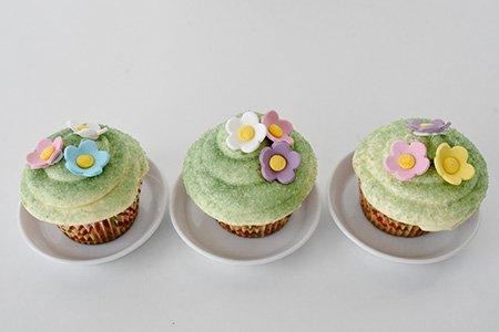 Osterblumen Cupcakes