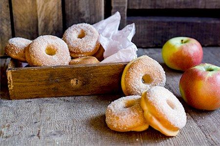 Apfel-Donuts