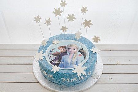 Eiskönigin-Frozen Torte