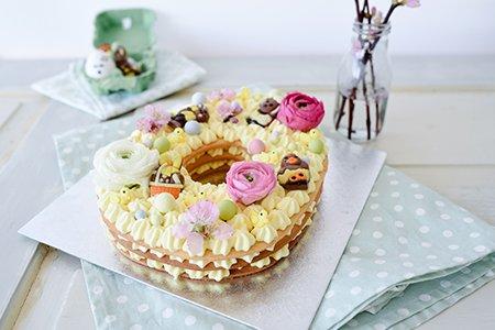 Osterei-Torte / Number Cake / Letter Cake