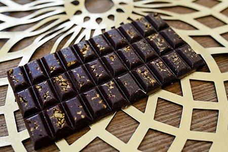 Dunkle Zimt-Schokolade
