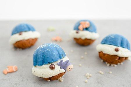 Muschel-Cupcakes