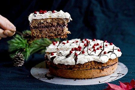Buchweizen-Pflaumen-Torte