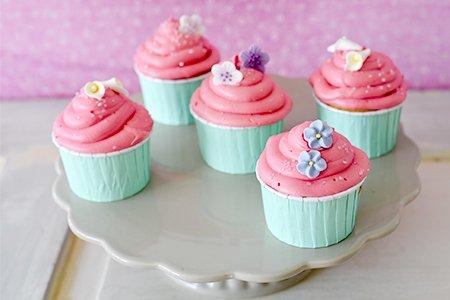 Spring Cupcakes pink Vanilla