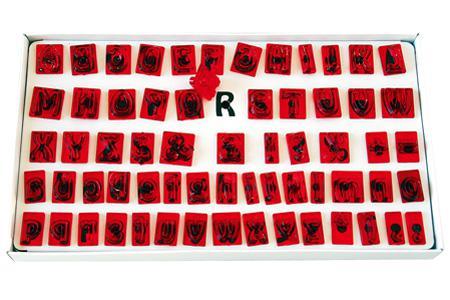 Anwendung für Alphabet Schablonen-Set
