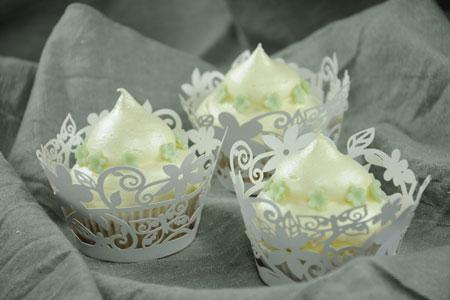 Apfel-Cupcakes mit Vanille-Icing