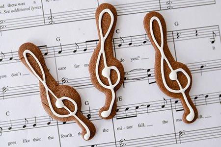 Noteschlüsel Kekse
