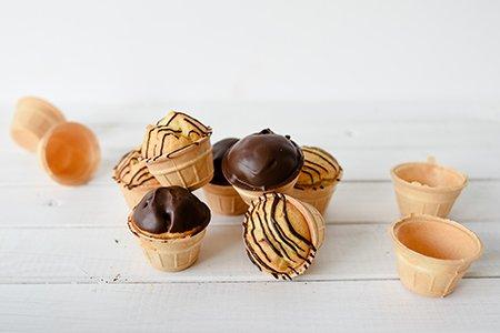 Muffin im Waffelbecher