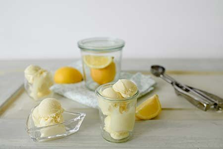 Zitronen Gin Eis