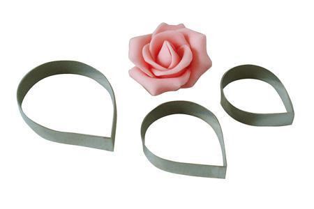 Anwendung für Ausstecher-Set Rose