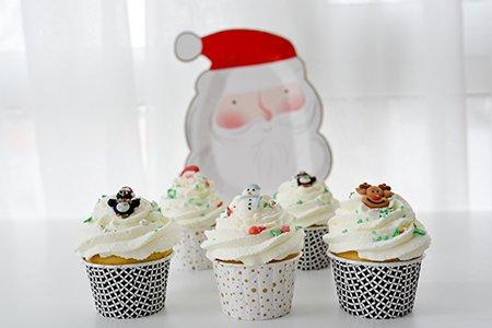 Weihnachts-Schoko-Cupcakes