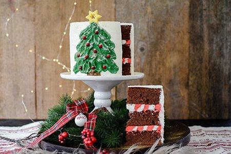Festliche Weihnachtstorte