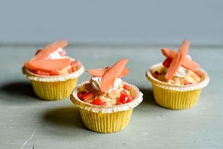 Käse-Maismehl-Muffins