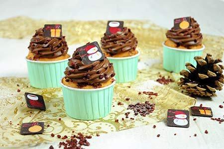Mini X-Mas Cupcakes
