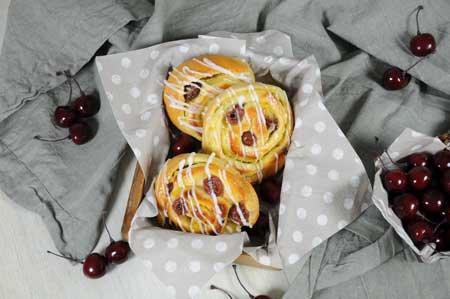 Frucht-Vanille Schnecken