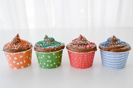 Schoko Icing Muffins