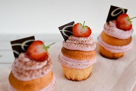 Erdbeer-Muffintörtchen