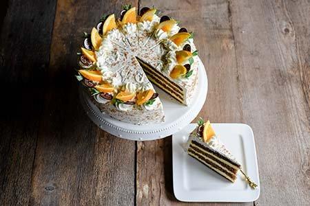 Orangensahne-Torte