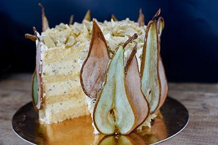 Festliche Birnen-Torte