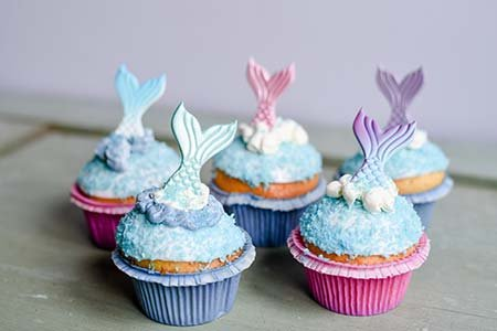 Meerjungfrauen-Cupcakes