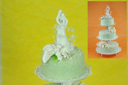 Hochzeitstorte in Grün-Weiß