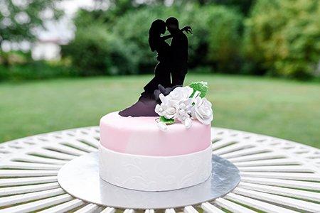 Torte zur Hochzeit oder Verlobung