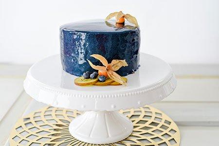 Mirror-Glace-Torte Blau
