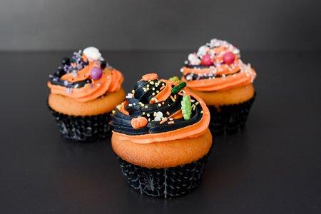 Halloween-Muffins zweifarbig