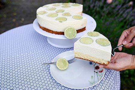 Ricotta-Limetten-Torte