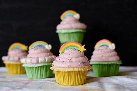 Regenbogen Muffins