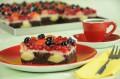 Vanille-Früchte Schnitten