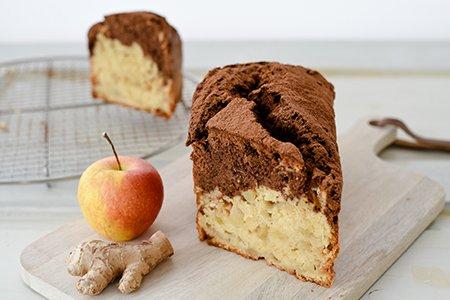 Apfel-Marmorkuchen mit Ingwer